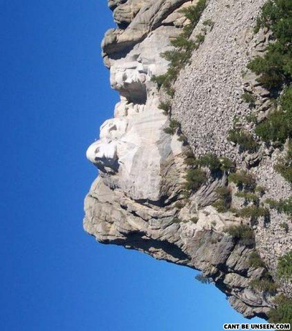 - Srsly? All it is a pic of MT rushmore facing horiz